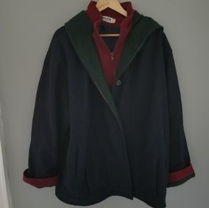 Vintage | Wool Color Block Winter Coat Herman Kay